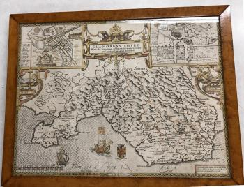 Image of A John Speede map of Glamorgan Shyre 1610