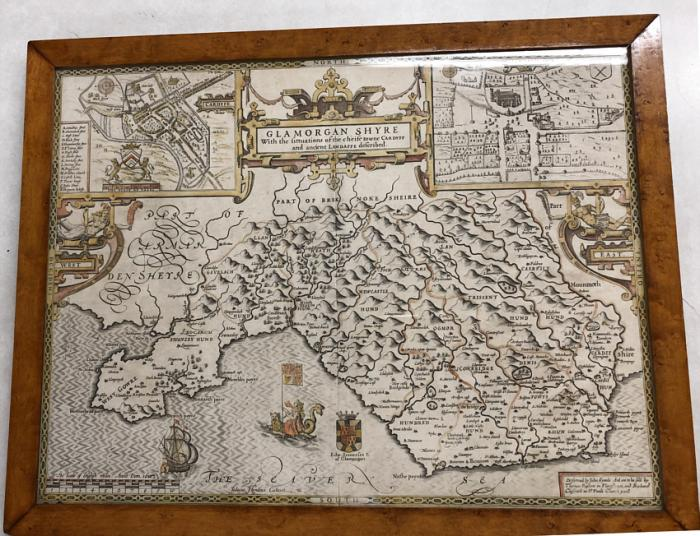 A John Speede map of Glamorgan Shyre 1610
