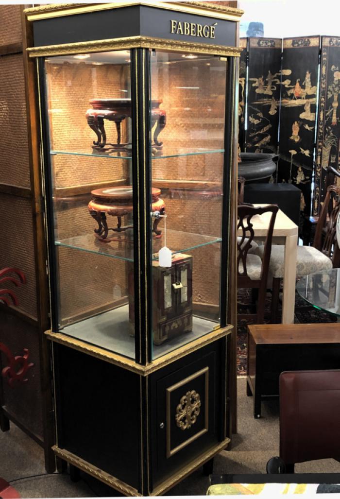Vintage Faberge display cabinet