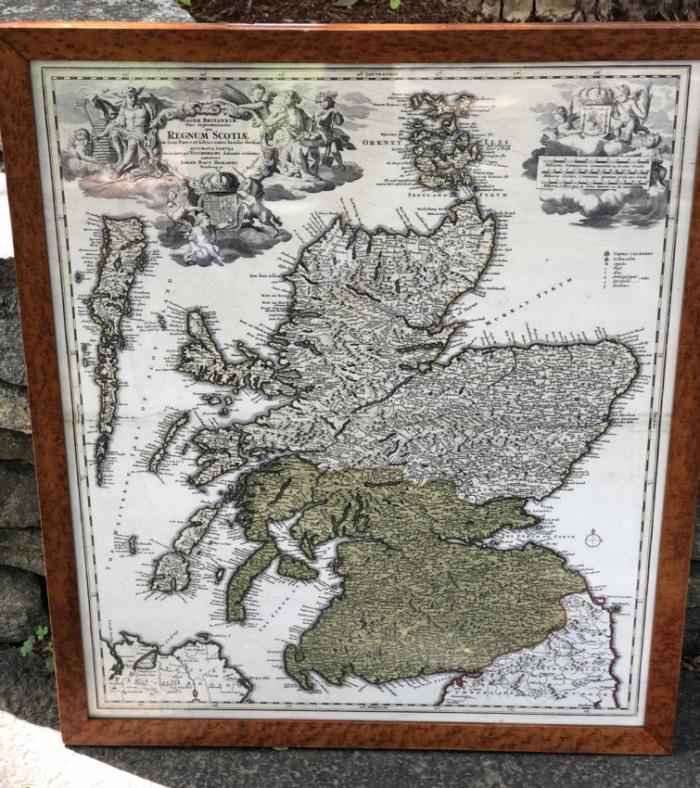 Regnum Scotiae map of Scotland and Ireland