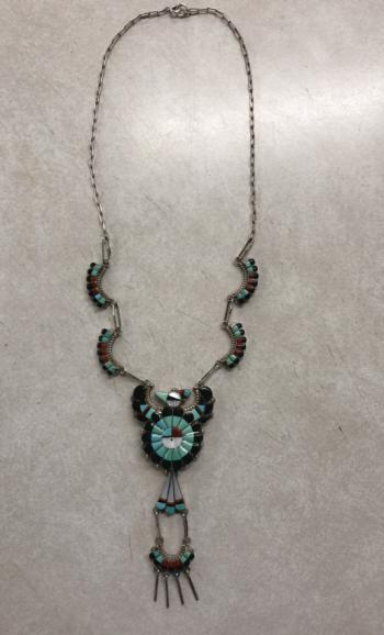 Image of Larry Fay Lonjose Zuni sterling necklace