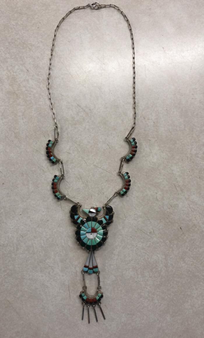 Larry Fay Lonjose Zuni sterling necklace