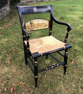 Image of Hitchcock armchair Yale Old Brick Row 1830