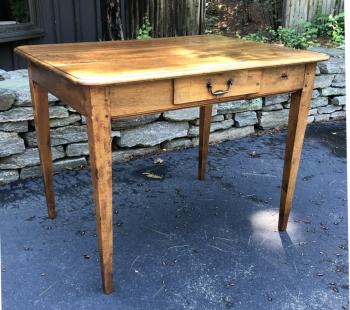 Image of Country French walnut work table c1780