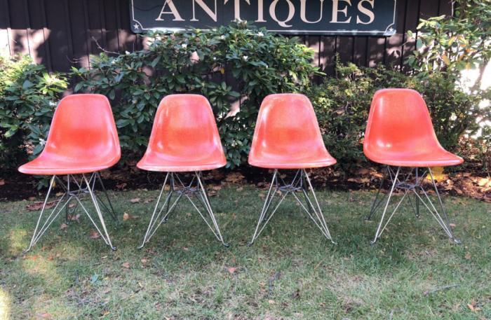 Modernica mid century modern fiberglass chairs