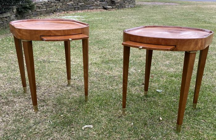 Vintage Henredon mid 20th century lamp tables
