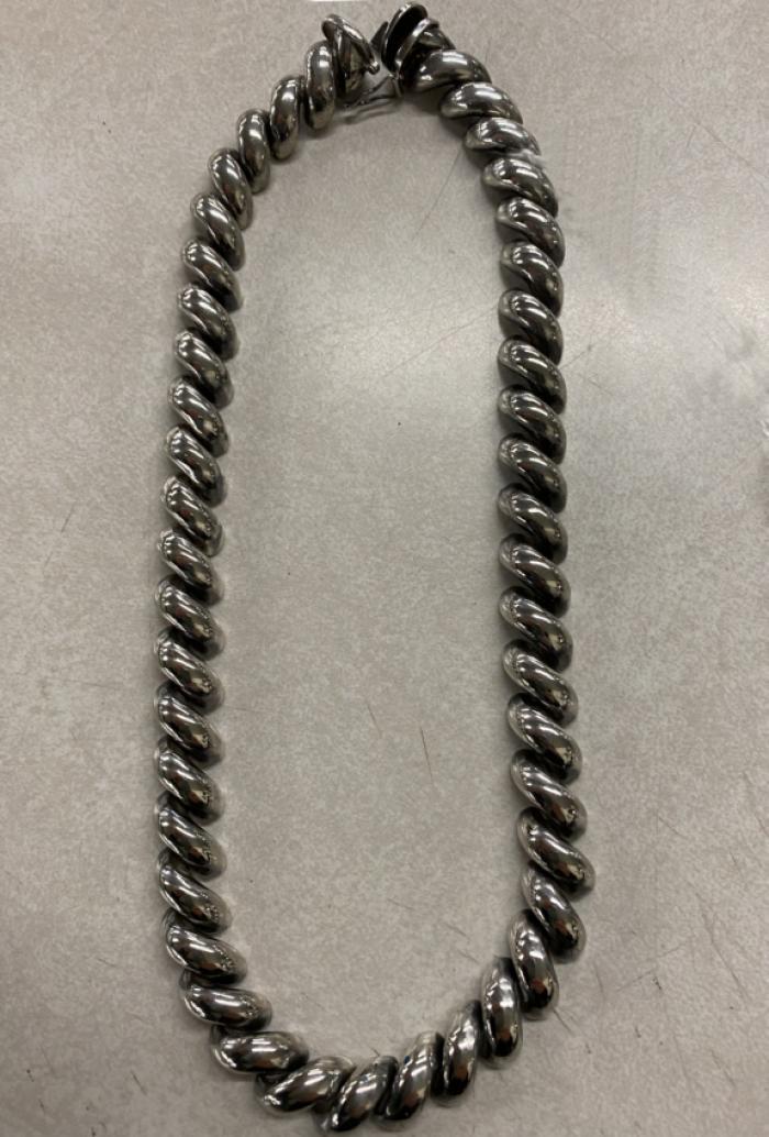 Heavy  Italian sterling silver twist chain