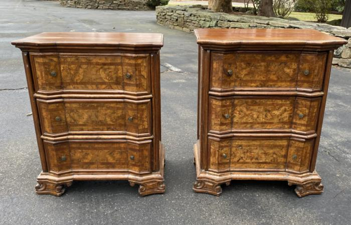 Pair of Italian renaissance stands or dressers c1700