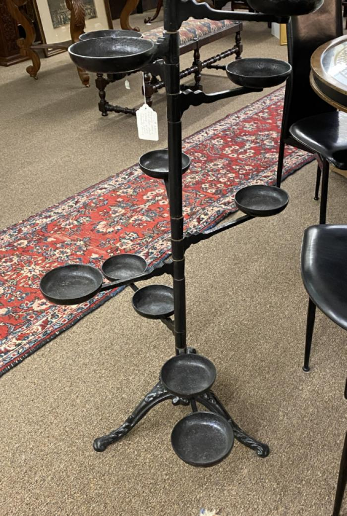 Cast iron plant stand with pivoting arms c1880