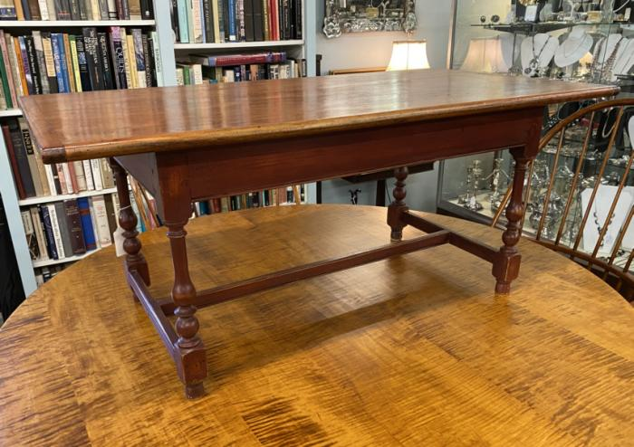 D R Dimes pine coffee table with single board top