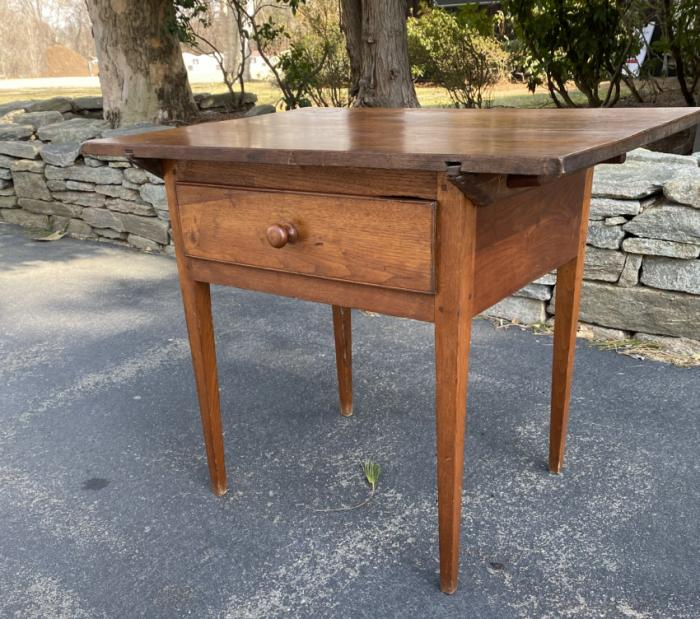 Walnut work table with drawer c1800