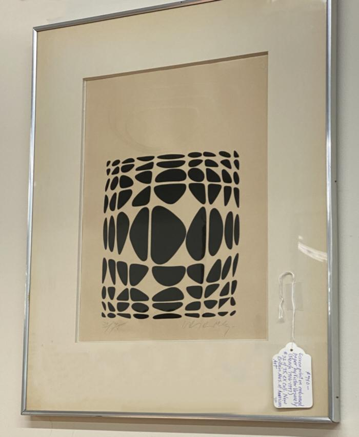 Victor Vasarely screen print on embossed paper