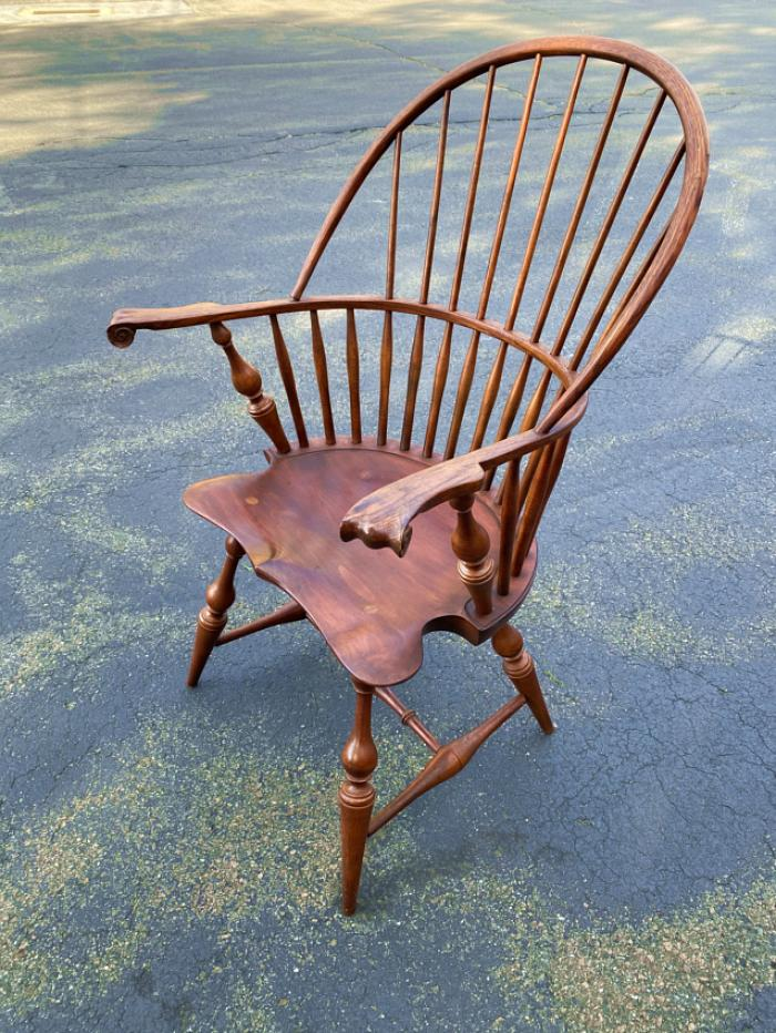 D R Dimes knuckle arm Windsor chair