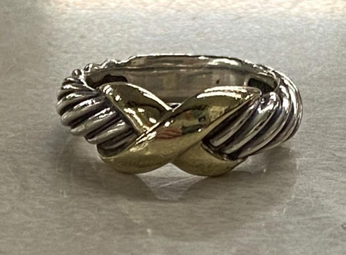David Yurman sterling and 14k ring
