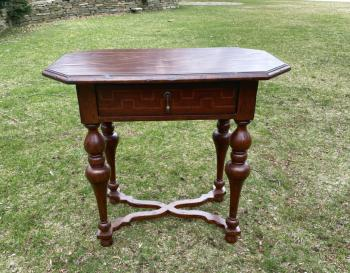 Image of Italian Renaissance style stand in mahogany and fruitwood