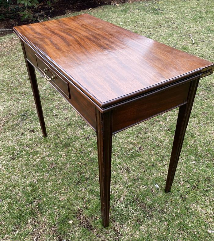 Georgian mahogany card table c1770