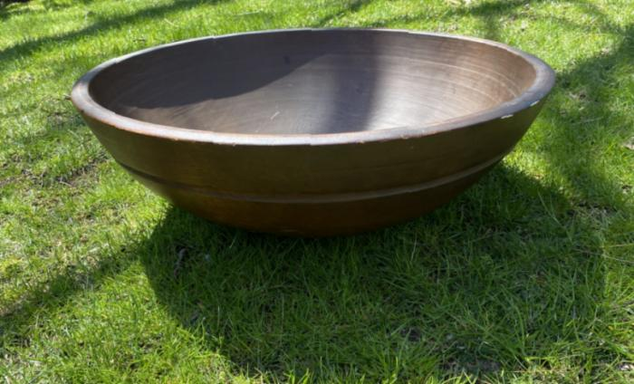 Early American large pine bowl
