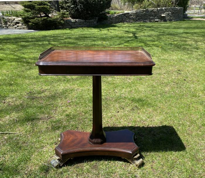 Neoclassical mahogany table by Scarborough House