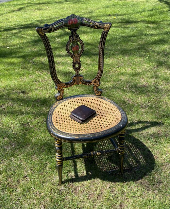 Victorian hand painted diminutive chair c1880