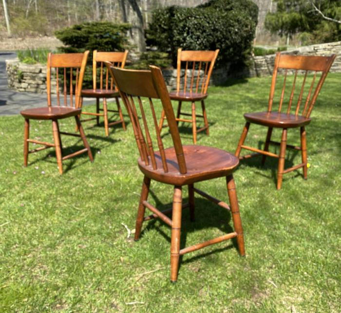Set of five 1938 Hurricane chairs