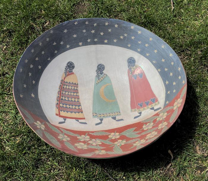 Melissa Greene pottery bowl Basket Ladies 1990