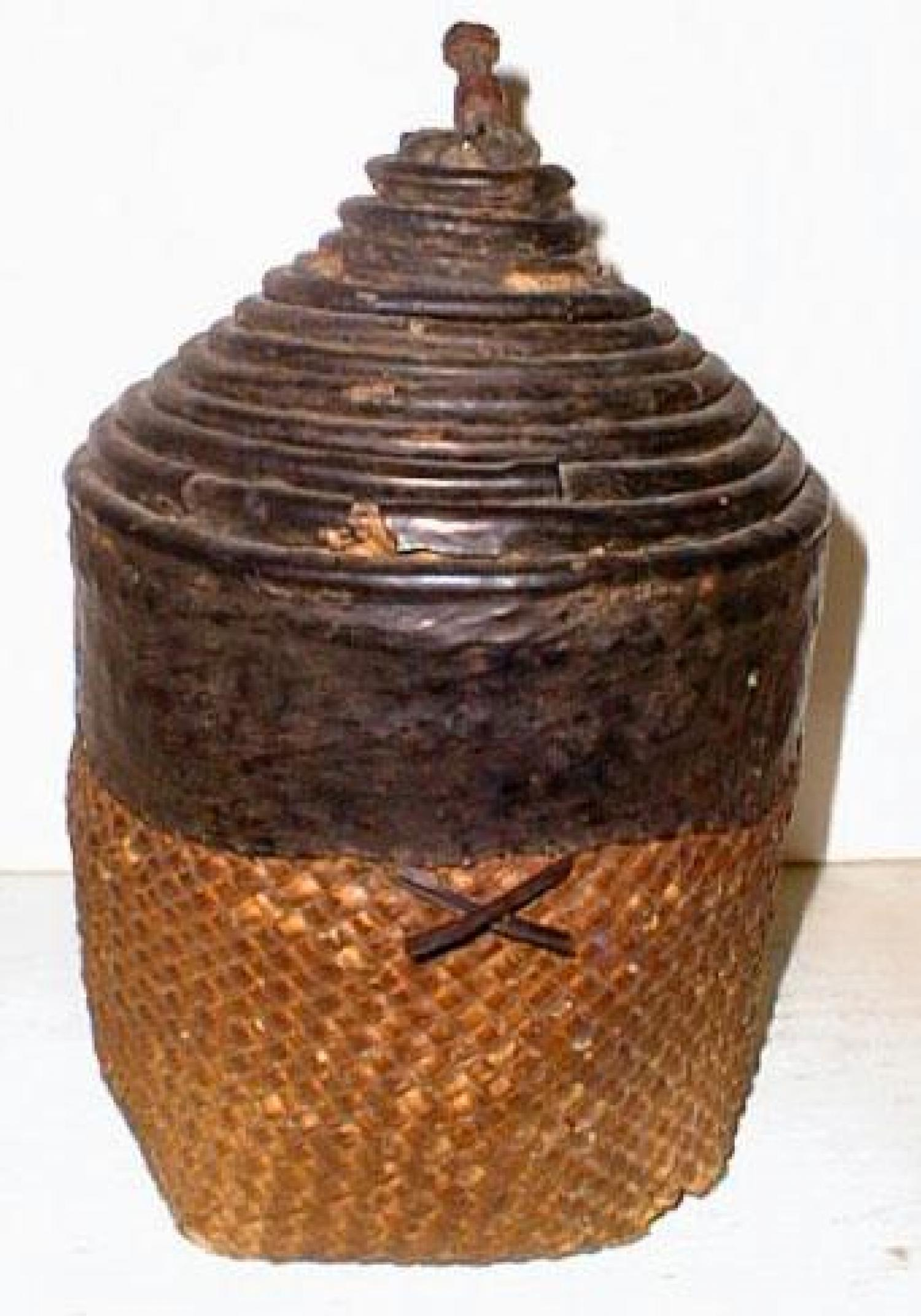 Antique African tribal Nest baskets Ghana