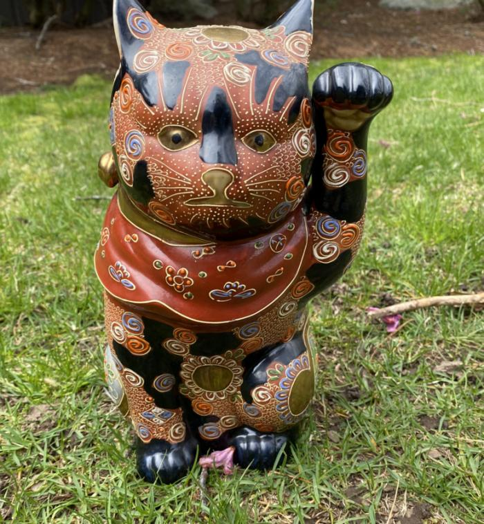 Kutani porcelain lucky cat