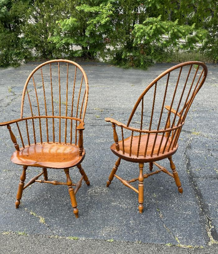 D R Dimes Windsor sack back arm chairs