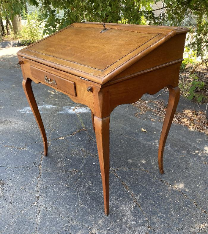 French country cherry lift top desk