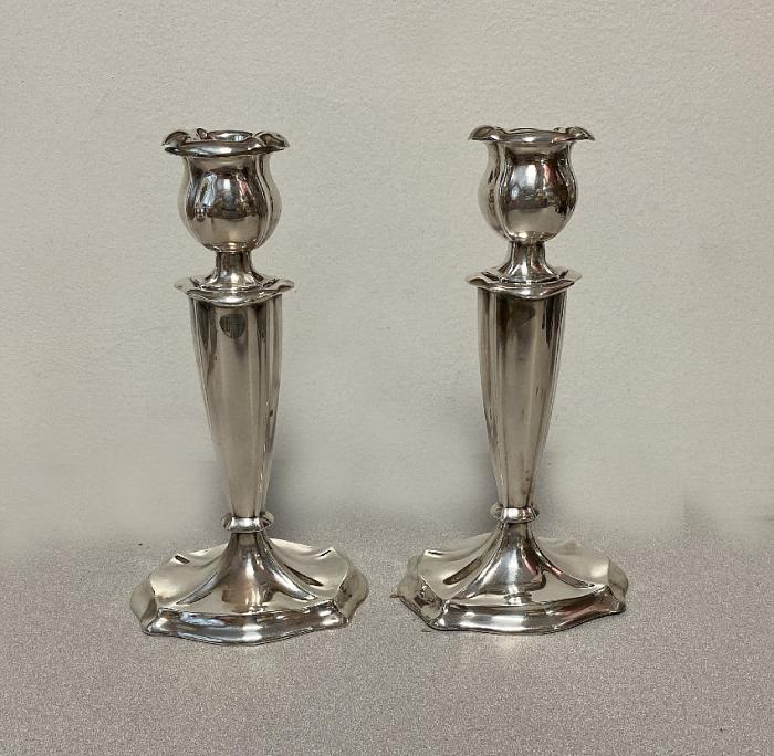 Vintage sterling silver Art Nouveau candlesticks