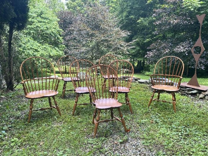 Set of seven Warren Windsor chairs