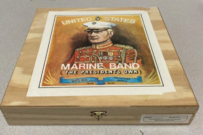 Presidents Marine Band painted lead figures set