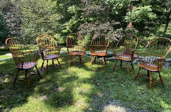 D R Dimes set of Windsor armchairs