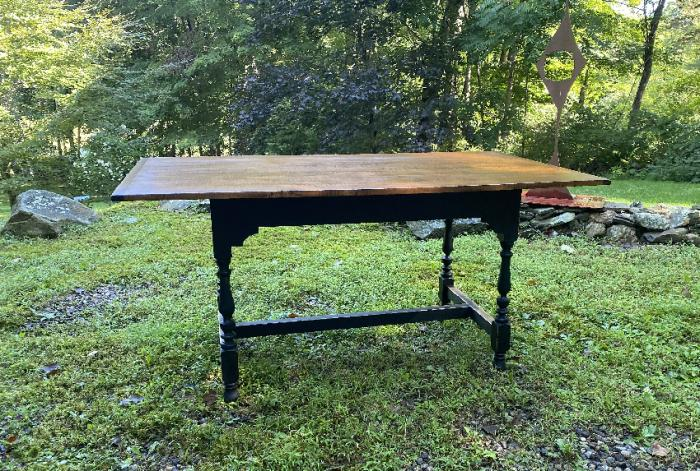 Eldred Wheeler tiger maple harvest table