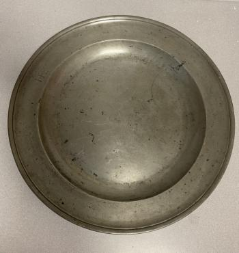 Image of Thomas Griffin pewter charger c1760