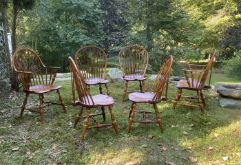 Image of D R Dimes brace back Windsor chairs