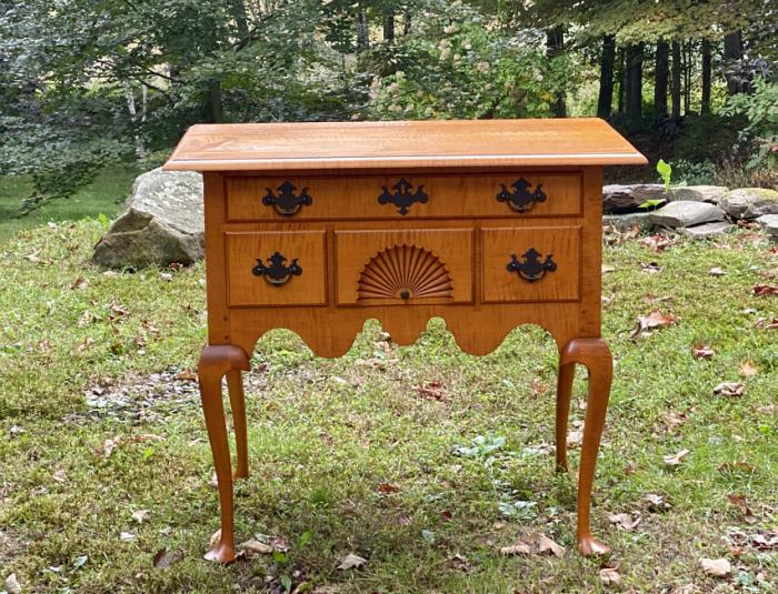 Eldred Wheeler tiger maple lowboy
