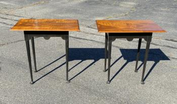 Image of Pair of Eldred Wheeler matching lamp tables