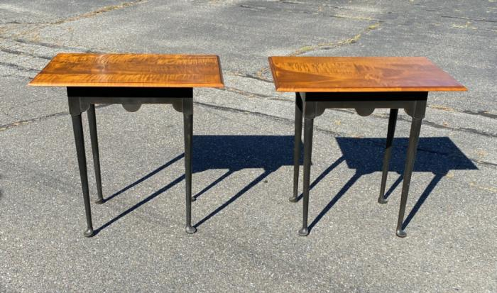 Pair of Eldred Wheeler matching lamp tables