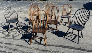 Image of Set of eight Windsor chairs by the Windsor Workshop