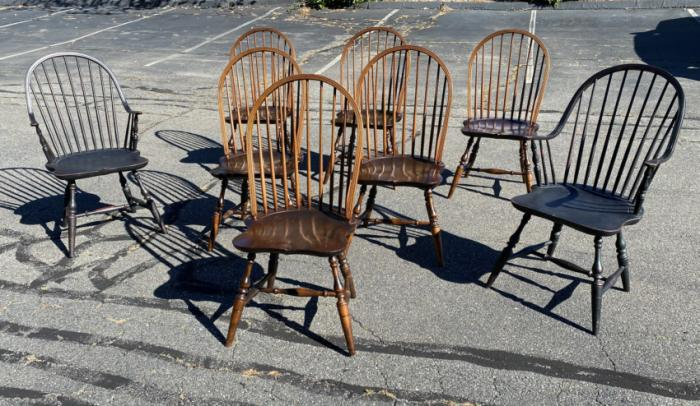 Set of eight Windsor chairs by the Windsor Workshop