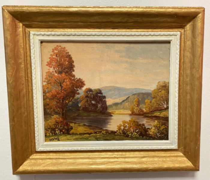 George DeVoss landscape oil painting