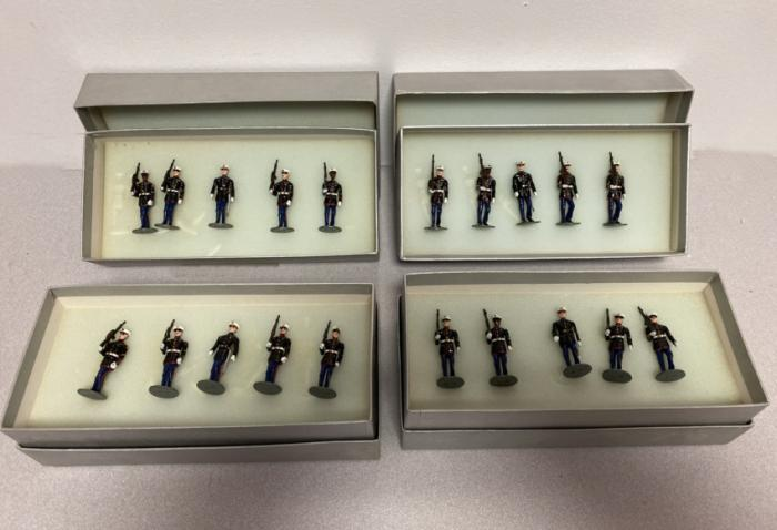Four boxed sets of American Marine Corps soldiers
