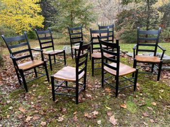 Image of Vintage Nichols and Stone dining chairs