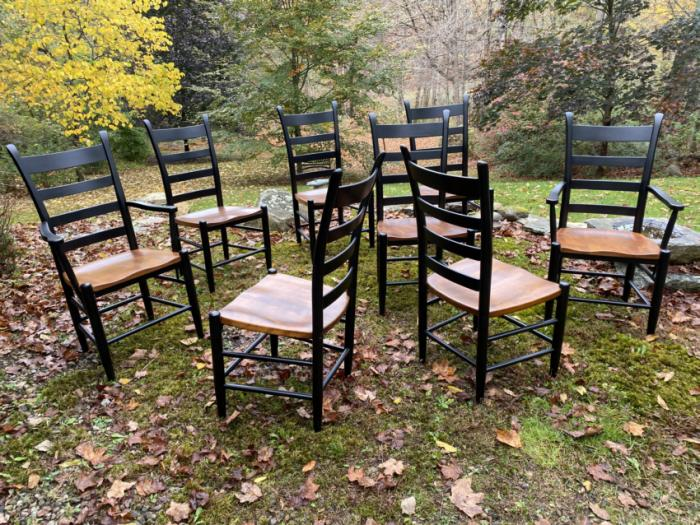 Vintage Nichols and Stone dining chairs