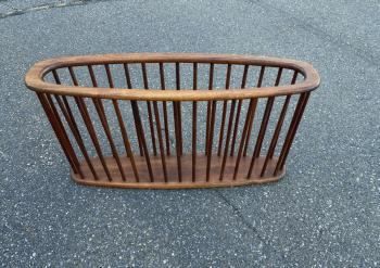 Image of Danish Modern teak magazine rack