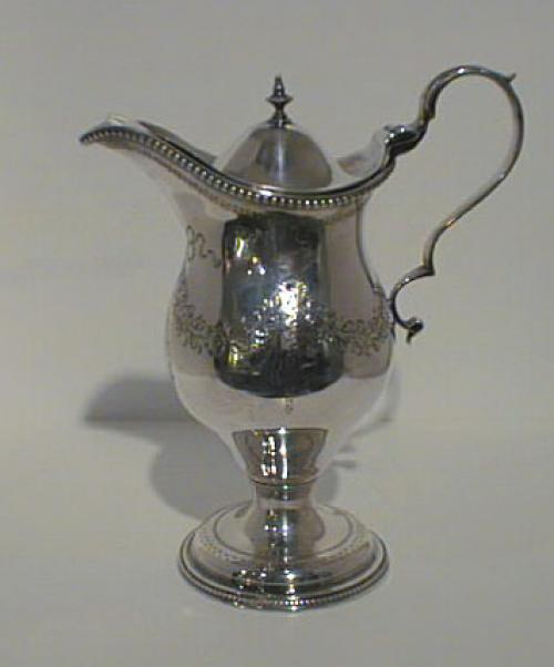 English George lll Silver hot milk jug