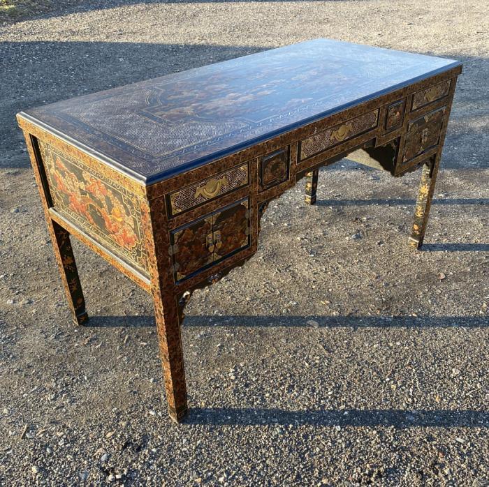 Vintage John Widdicomb Chinoiserie desk