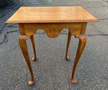 Image of Jeffrey Greene Boston tea table in tiger maple