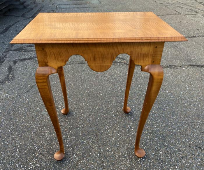 Jeffrey Greene Boston tea table in tiger maple